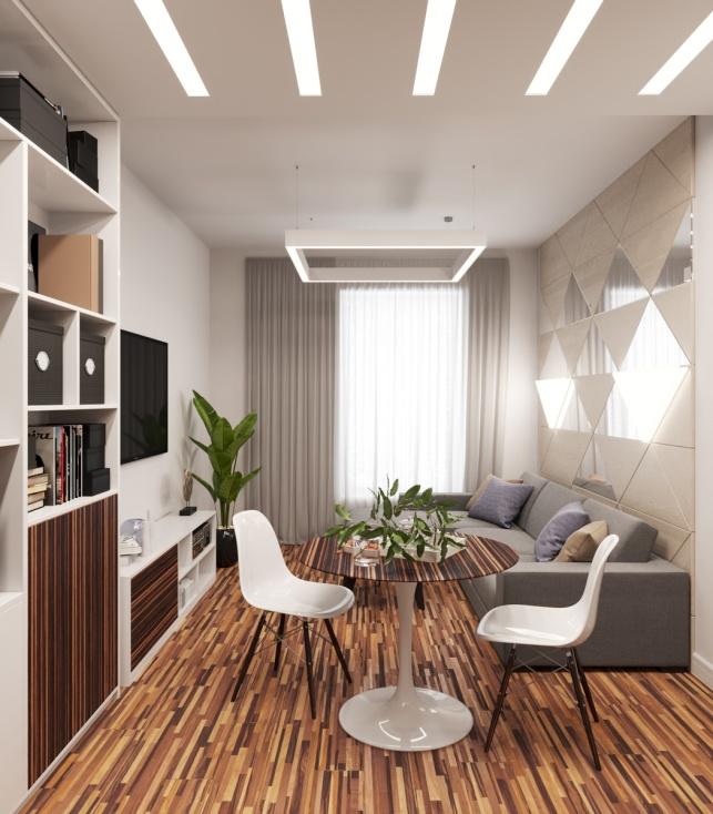 Отель М1 Сколково дизайн-проект Апартаментов 2 вариант