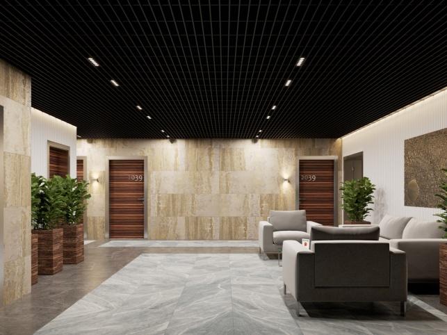 Дизайн-проект холла в апартаментах М1 Сколково