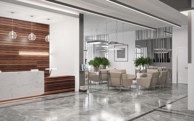 Дизайн-проект зоны ресепшен апартаментов отеля М1 Сколково 4 вариант