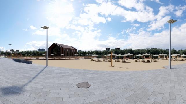Большие садовые пруды архитектурный проект прогулочная зона