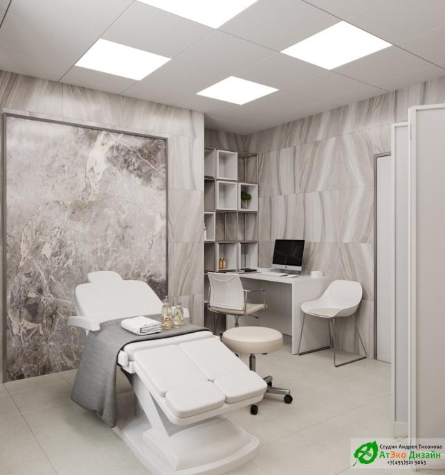 Дизайн-проект подологического центра кабинет массажа