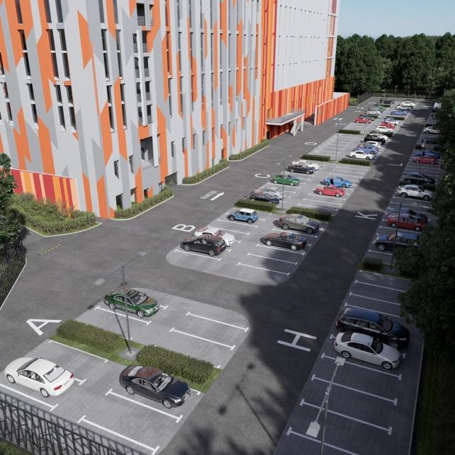 Архитектурный проект комплекса апартаментов М1 Сколково парковка