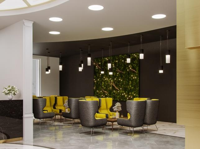 Дизайн-проект зоны ресепшен отеля М1 Сколково 1 вариант