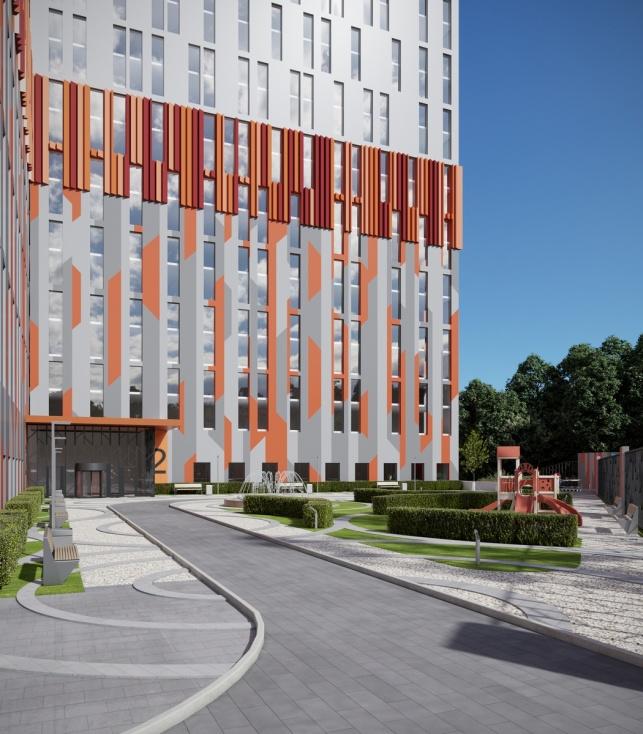 Архитектурный проект комплекса апартаментов М1 Сколково пешеходные дорожки