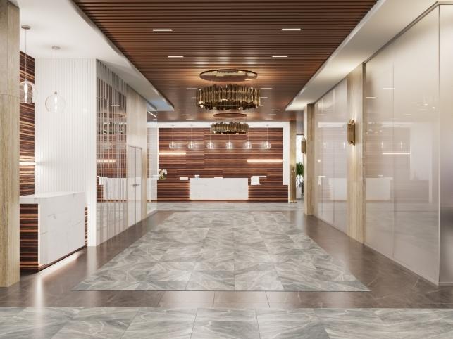 Дизайн-проект зоны ресепшен отеля М1 Сколково 3 вариант