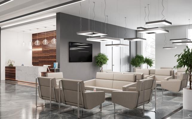 Дизайн-проект зоны ресепшен в комплексе М1 Сколково 4 вариант