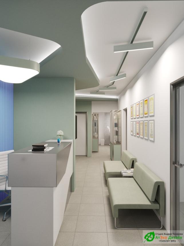 Дизайн-проект подологического центра Ресепшен Холл