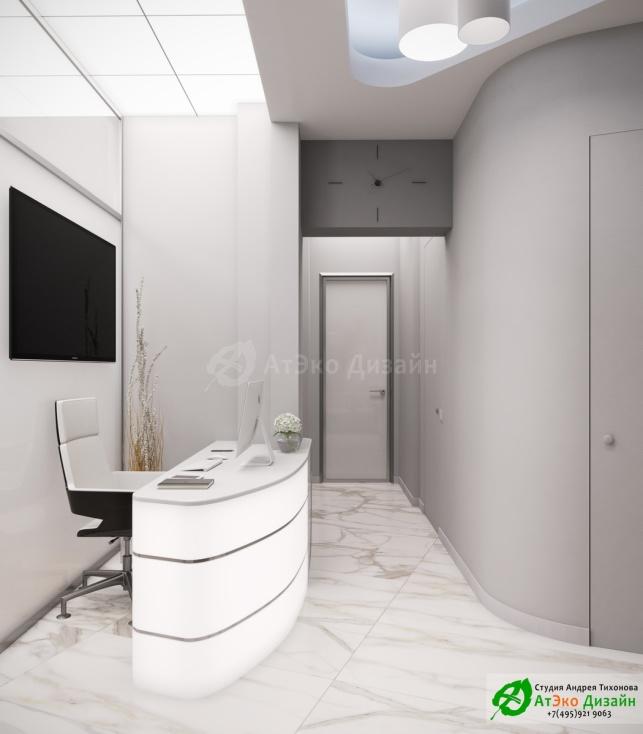 Дизайн-проект косметологического салона на Фрунзенской набережной зона ресепшен