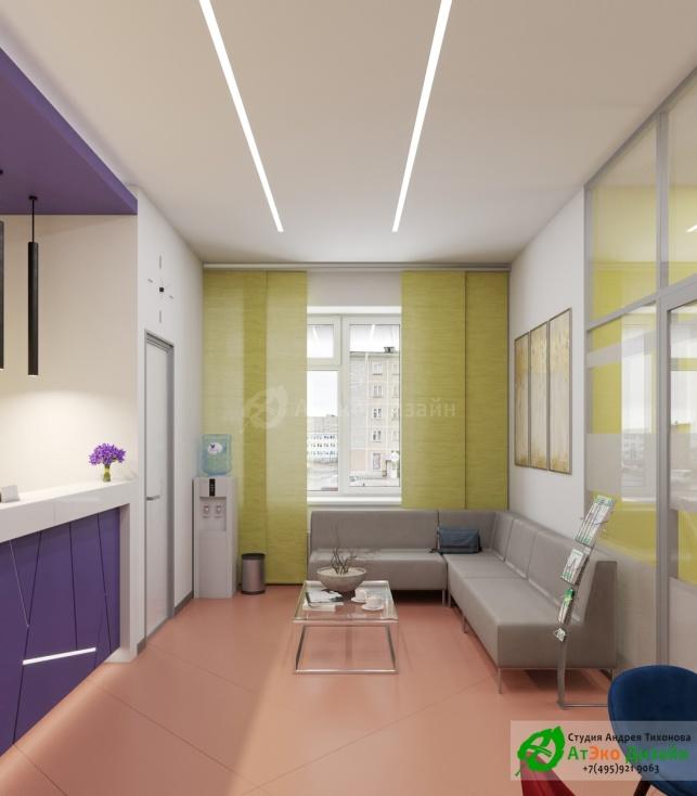 Дизайн проект Медцентр Воркута зона ожидания