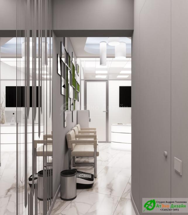 Дизайн-проект косметологического салона на Фрунзенской набережной коридор