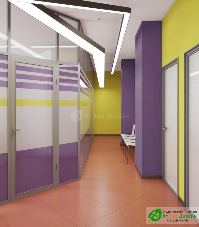 Дизайн проект Медцентр Воркута зона ожидания около кабинета