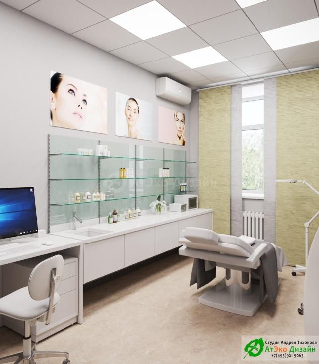 Дизайн-проект косметологического салона на Фрунзенской набережной Кабинет№2