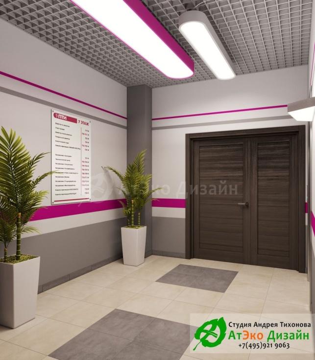 дизайна лифта и холла офис ПТИ