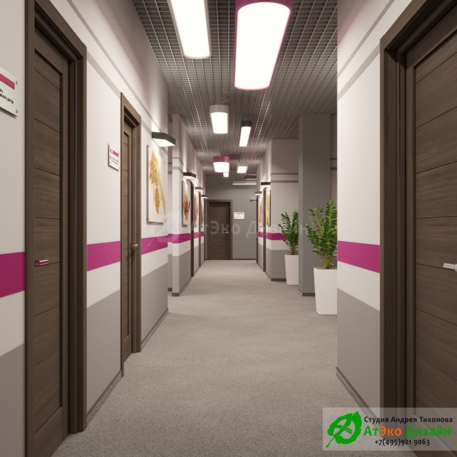 дизайн проект холла ПТИ
