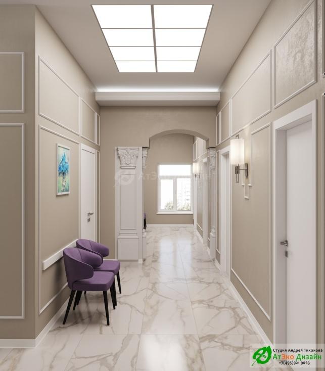 Клиника Берс Космонавтов18 2 Этаж дизайн коридора