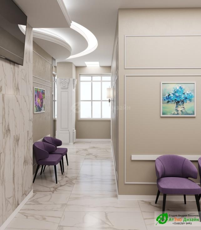 Клиника Берс Космонавтов18 2 Этаж дизайн интерьера