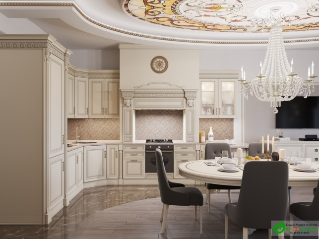 Апартаменты Триколор Гостиная Холл дизайн проект