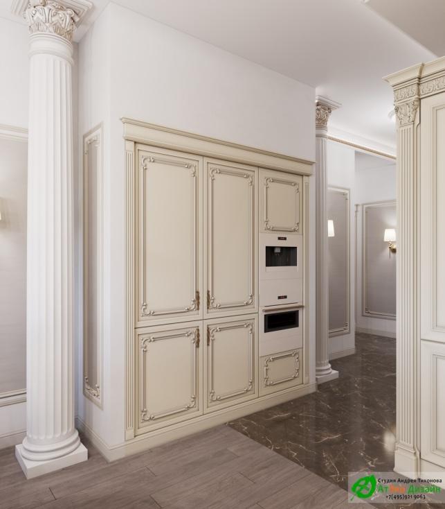 Апартаменты Триколор Гостиная дизайн проект