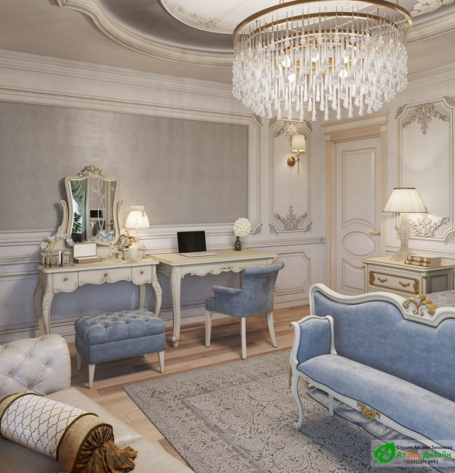 Апартаменты Триколор дизайн проект главной спальни