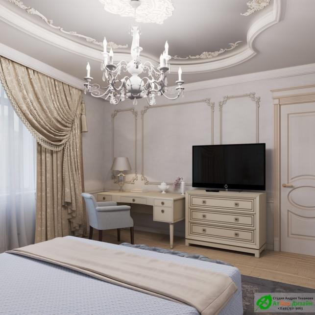 Апартаменты Триколор спальня девочки готовый дизайн проект