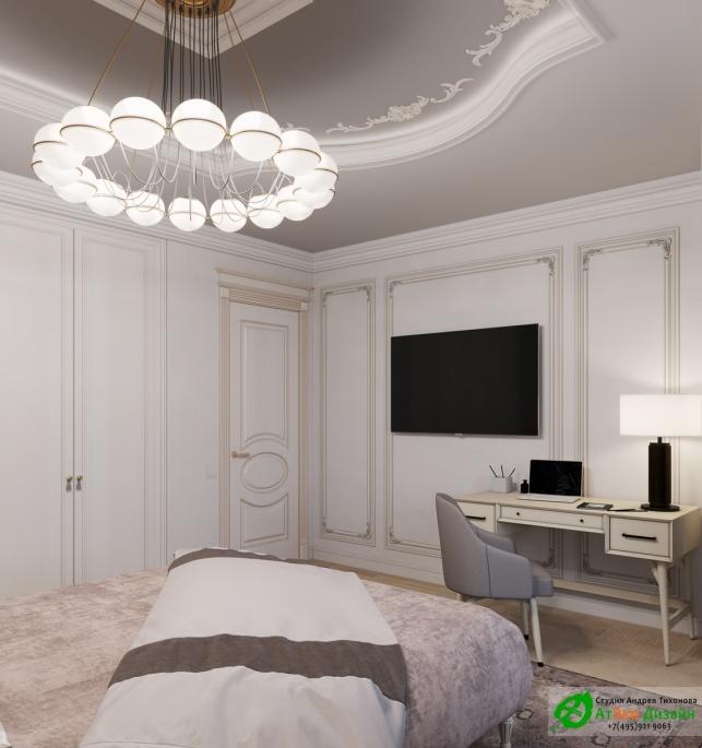 Апартаменты Триколор спальня мальчика готовый дизайн проект