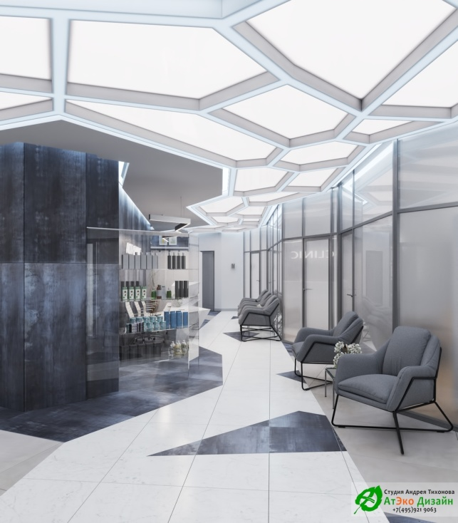 Дизайн проект АСТ-Клиник Минская Ресепшен Холл