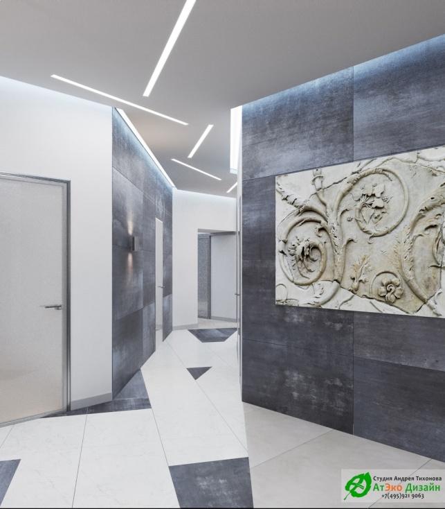Дизайн проект АСТ-Клиник коридор