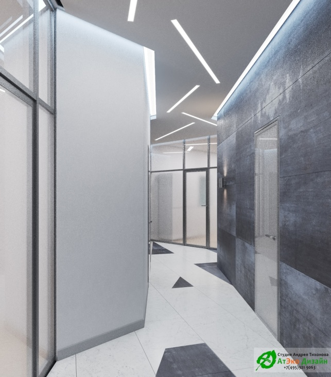 Дизайн проект коридора АСТ-Клиник