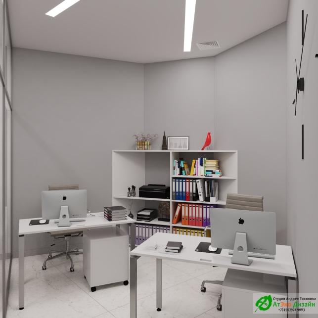 Дизайн проект АСТ-Клиник интерьер офиса