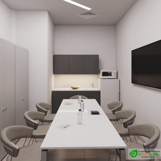 Дизайн проект АСТ-Клиник интерьер столовой