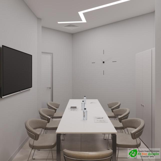 Дизайн проект АСТ-Клиник интерьер переговорной