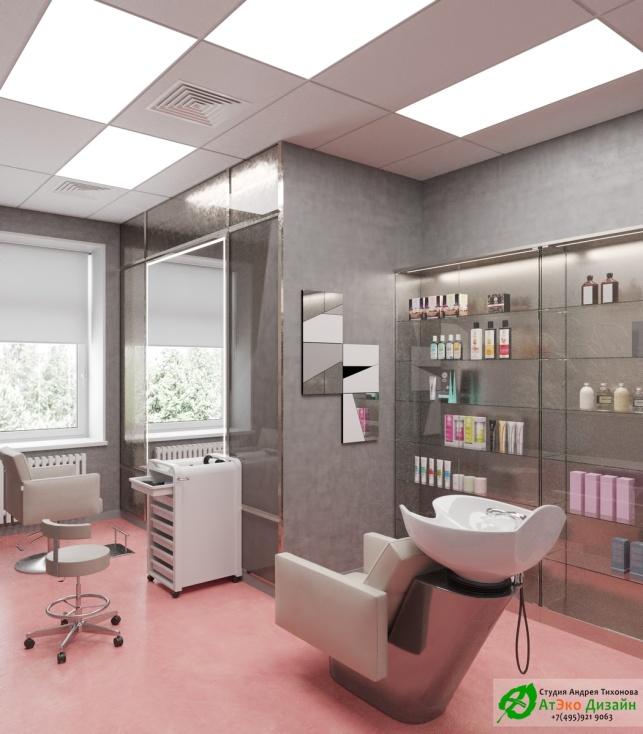 Дизайн проект АСТ-Клиник кабинет парикмахера