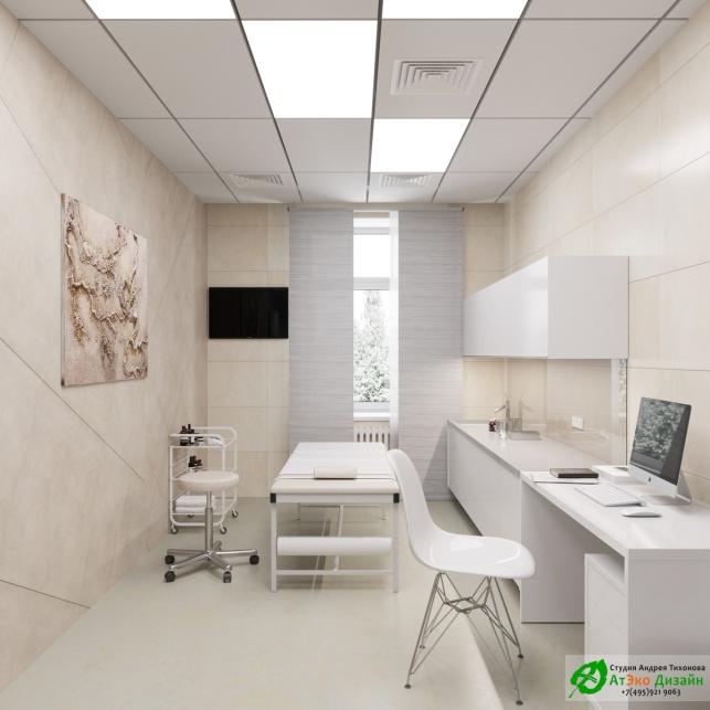 Дизайн проект АСТ-Клиник интерьер кабинета ортопеда