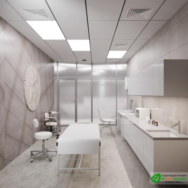 Дизайн проект АСТ-Клиник интерьер процедурного кабинета