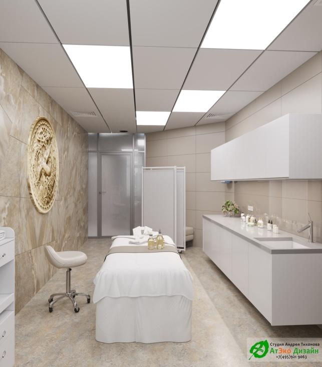 Дизайн проект АСТ-Клиник интерьер массажного кабинета