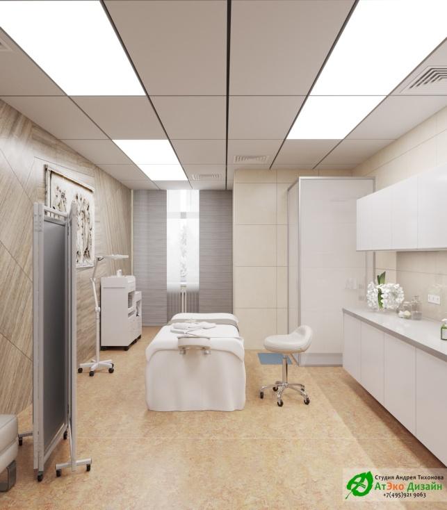 Дизайн интерьера массажного кабинета в АСТ-Клиник