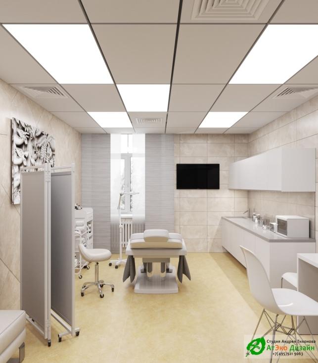 Дизайн проект интерьера АСТ-Клиник кабинет терапевта