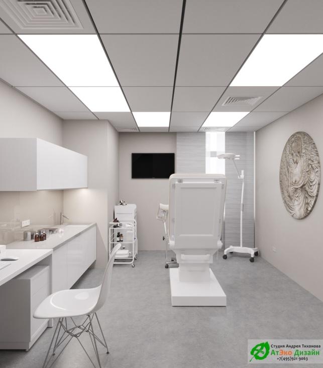 Дизайн проект АСТ-Клиник интерьер кабинета эндокринолога