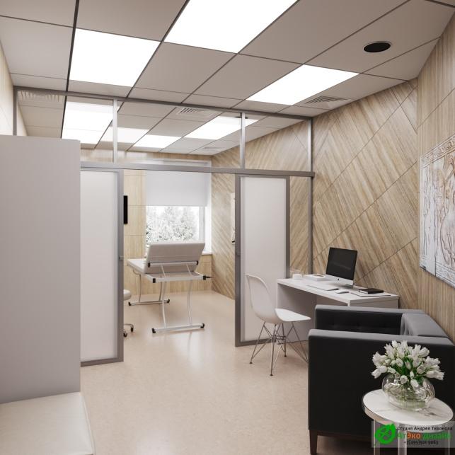 Дизайн проект АСТ-Клиник интерьер кабинета косметолога